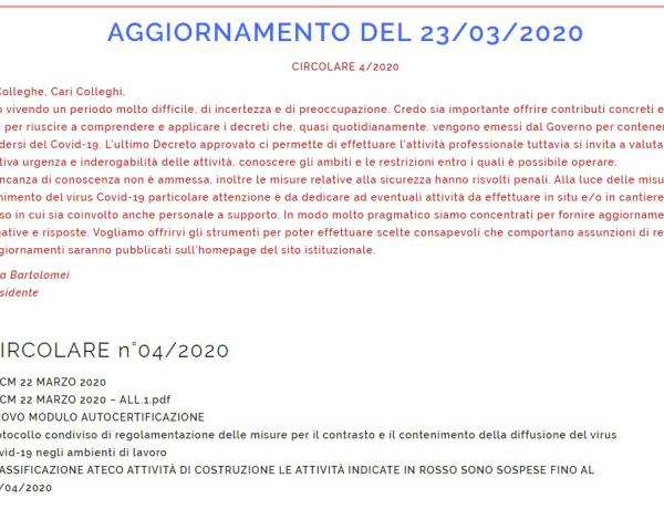 NORME DI CONTENIMENTO ALLA DIFFUSIONE DEL COVID-19