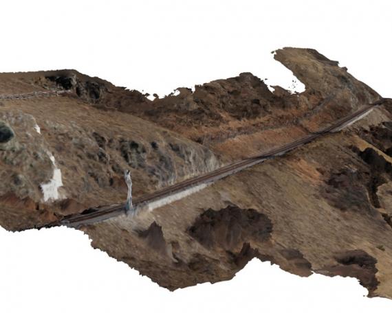 Val Venosta (BZ): Rilievo fotogrammetrico tramite APR (Aeromobile a Pilotaggio Remoto) di una porzione della linea ferroviaria della Val Venosta