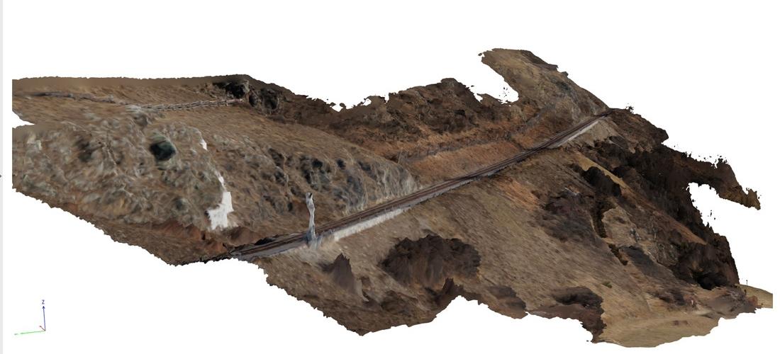 Val Venosta (BZ): Photogrammetric survey by UAV along the railway of the Venosta Valley
